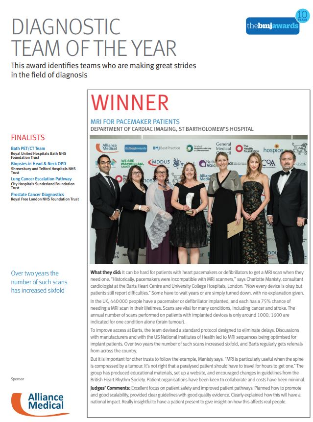 BMJ Finalists brochure